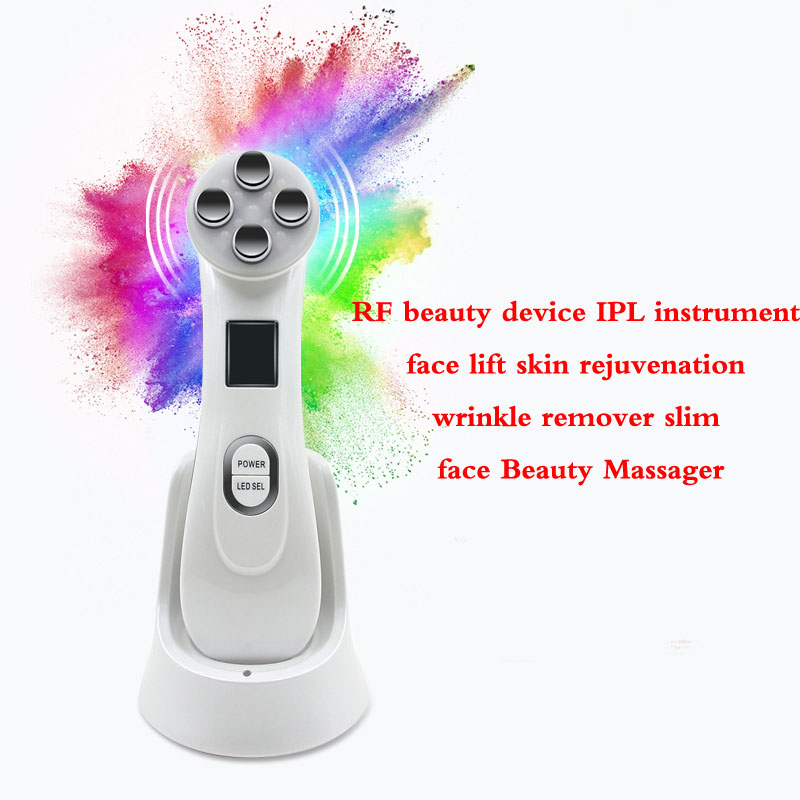 LED Photon Skin Rejuvenation EMS Mesotherapy Electroporation Facial RF Radio Frequency Skin Care Tighten Lifting Massage Machine<br>