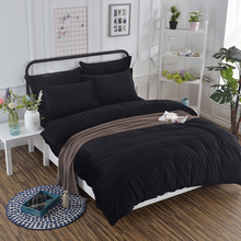 Soft Solid Colors Anti Static Velvet black Bedding Set with Conductive Fibers Luxury Duvet Cover Sets Simple Brief Fashion Gifts