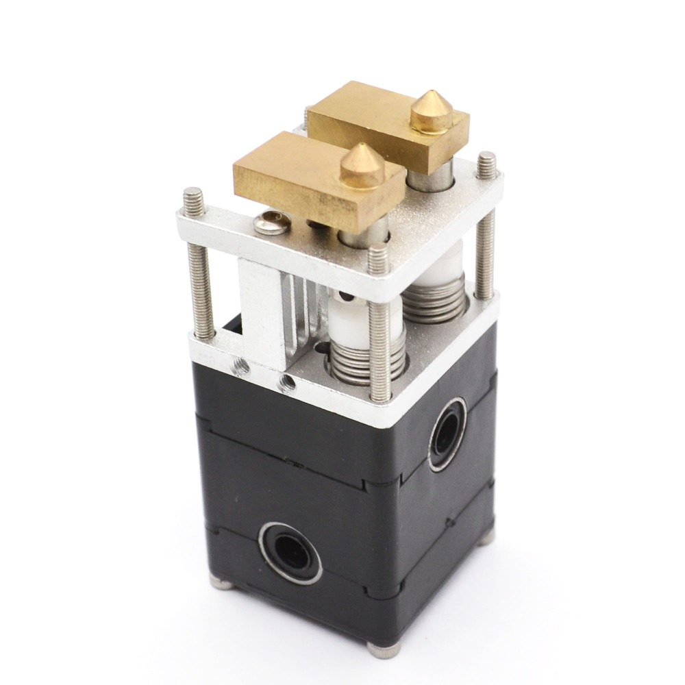 UM2 Ultimaker 2 3D Printer Dual Extrusion Kit 2 Nozzles Hot End Pack Ultimaker 2 Dual Heads Extruder for 3mm Ultimaker 2, 0.4mm<br><br>Aliexpress