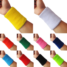 new1x Sports Wrist Sweatband Tennis Squash Badminton GYM Basketball Wristband Gift(China)