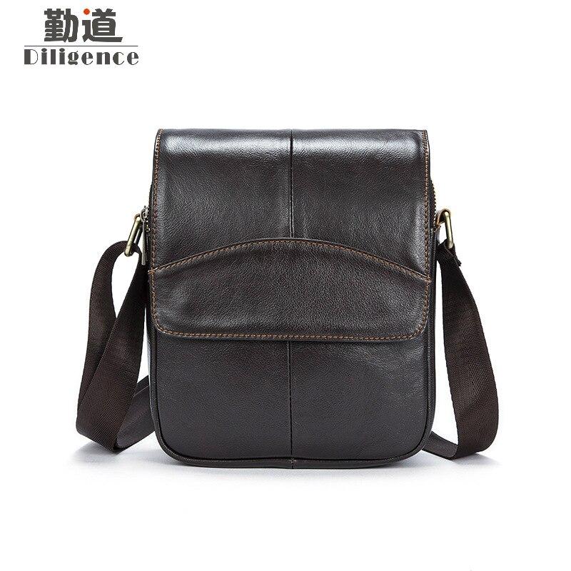 Mini Bag Genuine Cow Leather Mens Shoulder Bags Famous Luxury Brand Style Messenger Bags Korean Version Crossbody Blosas<br>