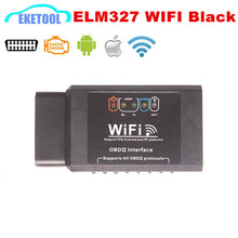 ELM327 WIFI Black Version Car Diagnostic Tool Wireless ELM 327 Interface Hardware V1.5 For iOS iPhone iPad Android Windows