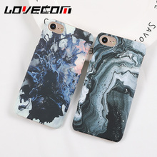 LOVECOM Marble Hard PC Scrub Decal Shell For iPhone 5S SE 5 6 6S 7 Plus Stylish Cute Unique Stone Phone Cases Cover(China)