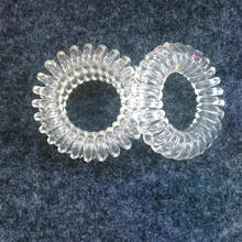 Hot Sale Hair Gum , Women's Rubber Band,Clear White Telephone  Wire Hair Ring,Transparent White  Hair Bands