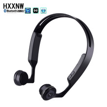 2017 Bone Conduction Bluetooth 4.1 Wireless Stereo Headset Waterproof Sports Headset Supports Cell Phone Bluetooth Music(China)