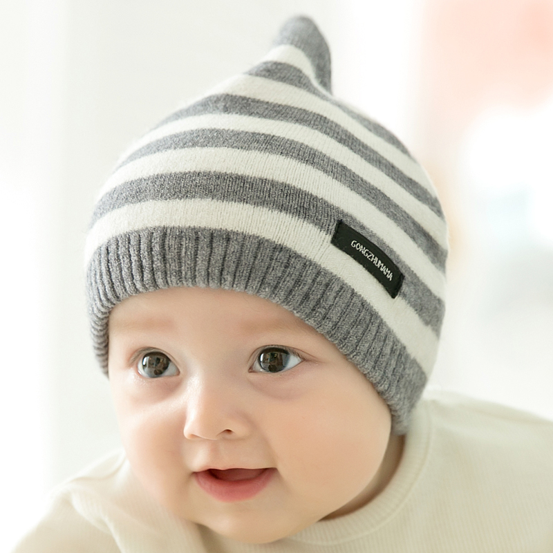 CieiK Newborn Photography Props Soft Baby Hat Warm Children Winter Cap Boys Girls beanie Infant Striped Muts Baby Accessories (10)