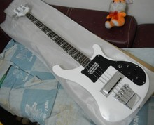 Wholesale Best High Quality 4003 4 Strings Rickk white Bass guitar free shipping(China)