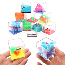 6pcs Puzzle Small Gadget EDC Hand Fidget Balance Game Box Fiddle Cube Time Killing Anti Stress Toy For ADHD/Anxiety/Autism