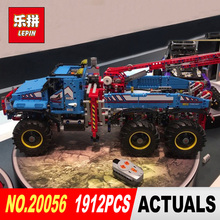 Lepin 20056 1912Pcs Technic Series The Ultimate All Terrain Remote Control Truck Set Building Blocks Bricks Toys Model 42070(China)