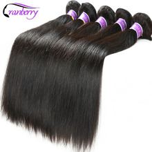 Cranberry Hair Store Malaysian Straight Hair Weave Bundles Natural 100% Human Hair Bundles Extensions Double Weft Non Remy Hair