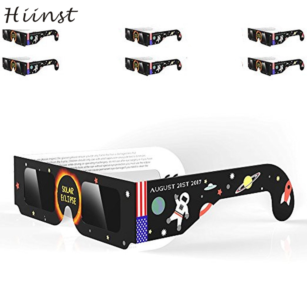 HIINST colors hot fashion funny Solar Eclipse Glasses 2017 Galaxy Edition CE and ISO Standard Viewing dropshipping gift Aug16(China (Mainland))