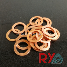 Copper washer M7 (7mm*10mm*0.1mm) Copper Flat Washer, Seal washer, Brass washers(China)