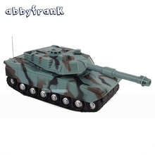 Abbyfrank 1:22 RC Tank Battle Game Tank Model RC Radio Remote Control Fighting Tank 360 Rotation Music LED Toys For Children(China)