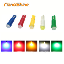 Nanoshine 10 pcs T5 led car dashboard light instrument automobile door Wedge Gauge reading lamp bulb 12V cob smd Car Styling(China)