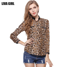 2017 EBay Ebay Foreign Trade European Will Code Long Sleeve Shirt Stars Pattern Leopard Print Shirt