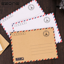 EZONE Vintage Envelope Printed Eiffer Tower Sample Style Stickers/Pack Message Card Letter Stationary Storage Paper Random 5PCS(China)