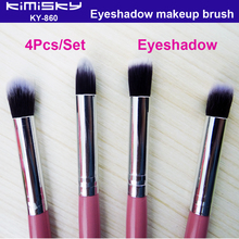 High Quality Pink 4pcs/set Makeup Brush New Small Size Beautiful Eye Shadow Brush For Lady Make Up Brushes Kimisky