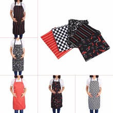 Fashion Korean Style Women's Men's Practical Kitchen Restaurant Chef Cooking Sleeveless Aprons With Pockets 5 Patterns Hot Sale