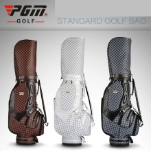 brand PGM Golf stand cart caddy bag golf rain covers plaid Vintage bag Super Anti-Friction PU golf cart bag staff golf bags