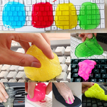 2017 Magic Car Cleaning Sponge Products Auto Universal Cyber Super Clean Glue Microfiber dust clean tools Gel Wiper For Keyboard(China)