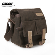 Buy CADeN Sling Shoulder Camera Bag Video Photo Brown Waterproof Canvas Soft Bags Digital Camera Case DSLR Canon Nikon Sony N1 for $24.65 in AliExpress store