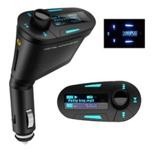 Car belt mp3 player remote control digital usb flash drive sd fm transmitter cigarette lighter