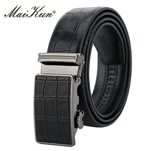 Designer Cowskin Leather Belts for Men Belt Luxury Cowhide Male Strap for Jeans Automatic Buckle Waist Strap Crocodile Pattern(China)