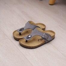 2017 summer new style boys girls kids cork sandals slippers slip-resistant Children slippers fashion beach Clip toe shoes