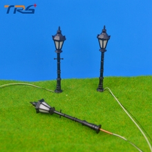 Teraysun 9cm miniature scale model ABS plastic courtyard lampost light for model train layout street lamp.model light