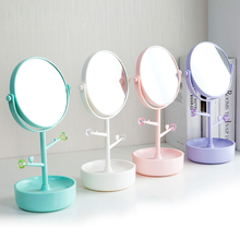 Double Side Dressing Mirror Tabletop Princess Magnifying Mirror Multifunctional Enlarge Dressing Table Makeup Mirror Stand(China)