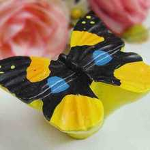 Children room Resin Butterfly Cupboard Drawer Knob Pulls Drawers Handle creative kitchen cabinet knobs handles