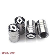 JDM Car-styling Tire Valves Cap Case For Renault  laguna 2 duster logan clio 4 captur sandero espacecar styling accessories