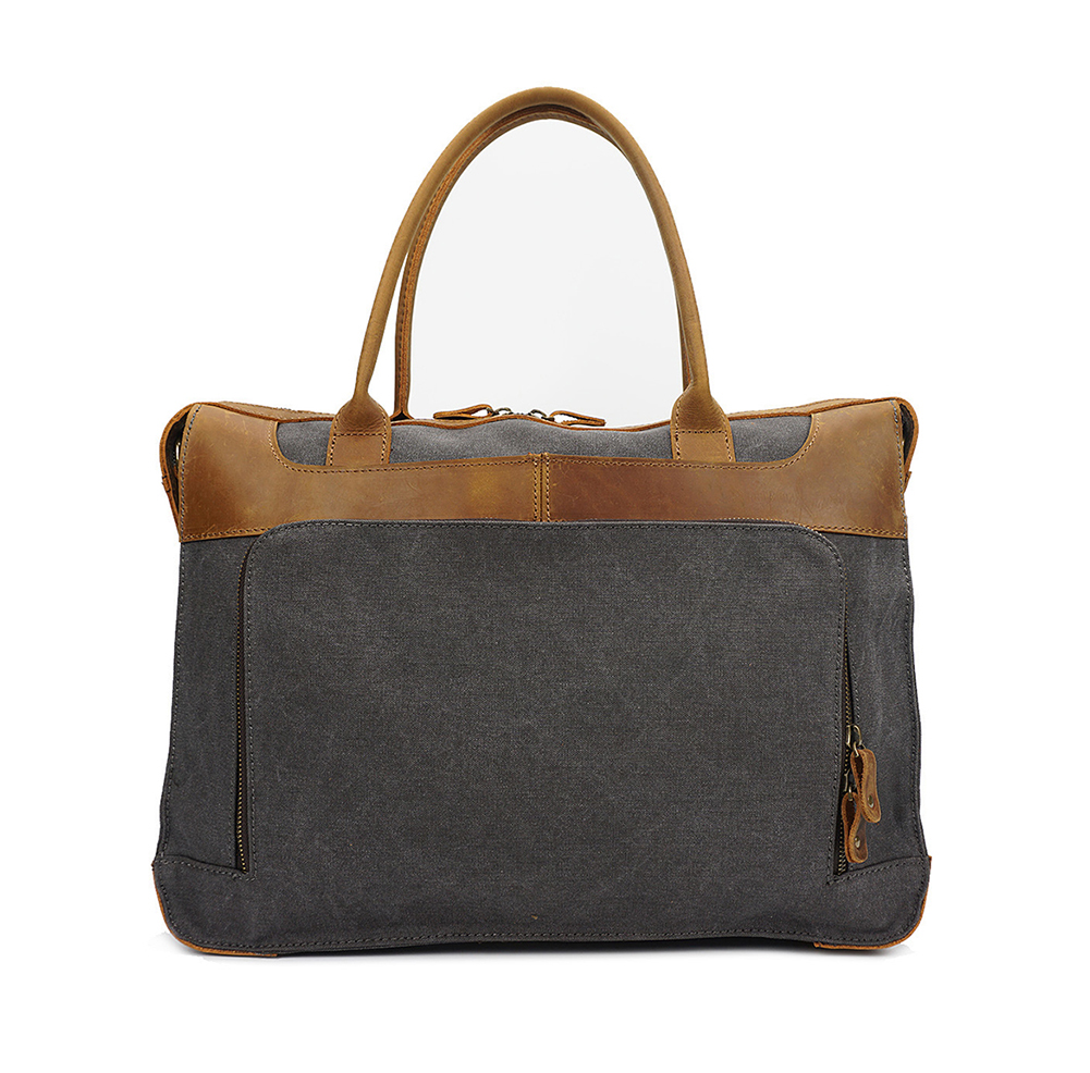 G-FAVOR Vintage Men's Handbag Canvas&Leather Laptop Case Luxury Brand Design Messenger Bags Men Business Crossbody Bag Briefcase