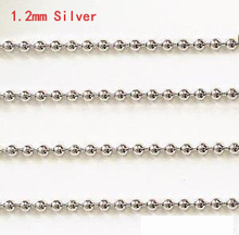1M length Silver beads Metal Glitter Striping Ball Beads Chain nail art for women gold nail art chain Stick on nails(China)