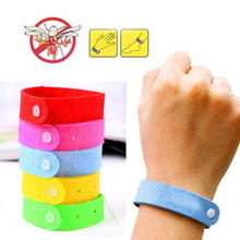 Non-Woven Fabrics 5pcs Anti Mosquito Bug Repellent Wrist Band Bracelet Insect Nets Bug Lock Camping Sent in random
