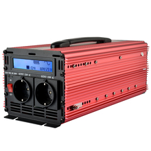 2200W 2000W/ Peak 4000W lcd UPS inverter pure sine wave DC 12V to AC 220V 230V power inverter with UPS + Charge function(China)
