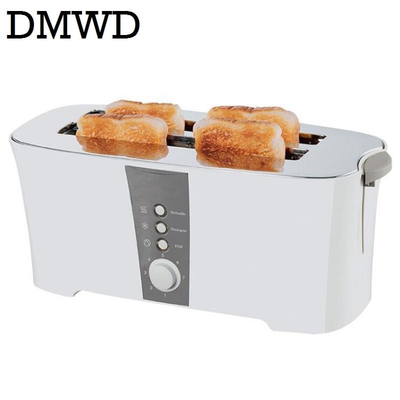 DMWD 4 pcs slots automatic baking toaster Multi-function toast oven bake breakfast machine bread maker 4 SLICE 220V-240V EU plug<br>