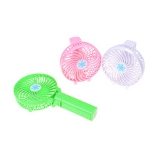 New Foldable Hand Fans Battery Operated Rechargeable Handheld Mini Fan Electric Personal Fans Hand Bar Desktop Fan USB Gadgets