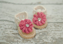 Baby Summer Shoes,Barefoot sandals Crochet Baby Sandals with Flower, Baby Gladiator Sandals, MADE TO ORDER size: 9cm,11cm(China)
