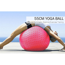 55cm Pvc Barbed Exercise Slim Fitness Massage Yoga Ball Trigger Point Yoga Fitness Ball Pilates Ball