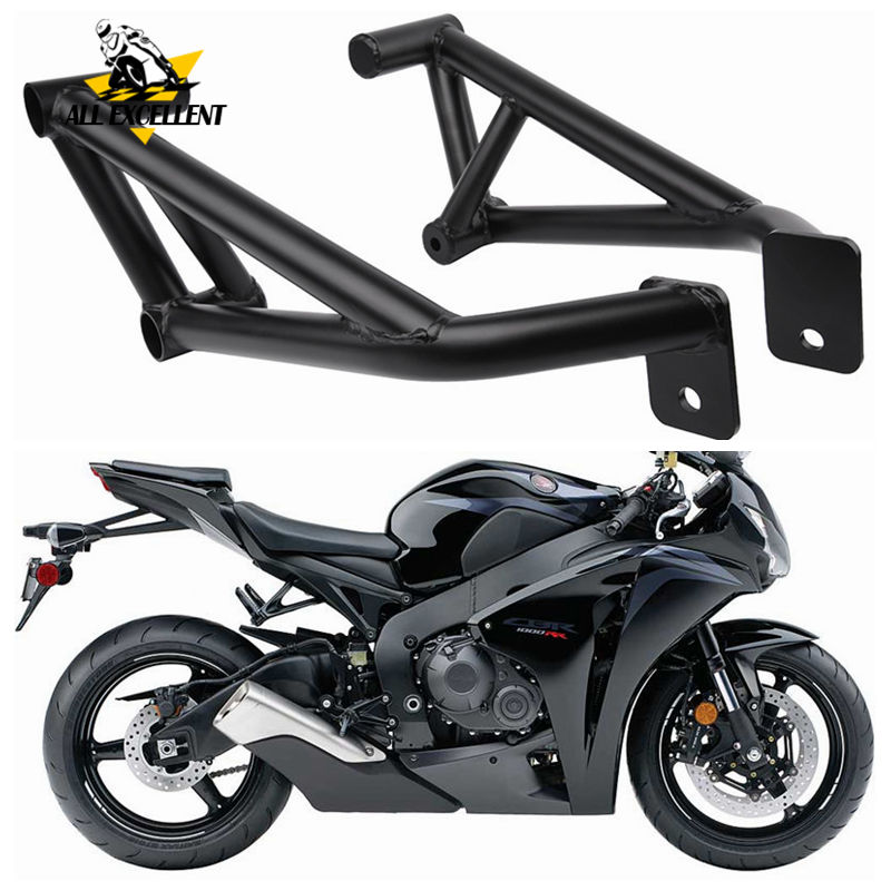 2008-2012 Honda CBR 1000RR Motorcycle Frame Sliders Black
