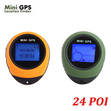 PG03 Mini GPS Receiver Navigation Outdoor Handheld Location Finder USB Rechargeable for Outdoor Sport Travel Yellow