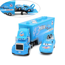 2 pcs / lot Pixar Cars 2 100% original car toys alloy and plastic Mack truck and the king band Weathers set blue toy car(China)
