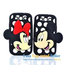 For Samsung Galaxy S3 i9300 Case Minnie Mickey Soft Silicone Lovers Cell Phone Cases Cover(China)