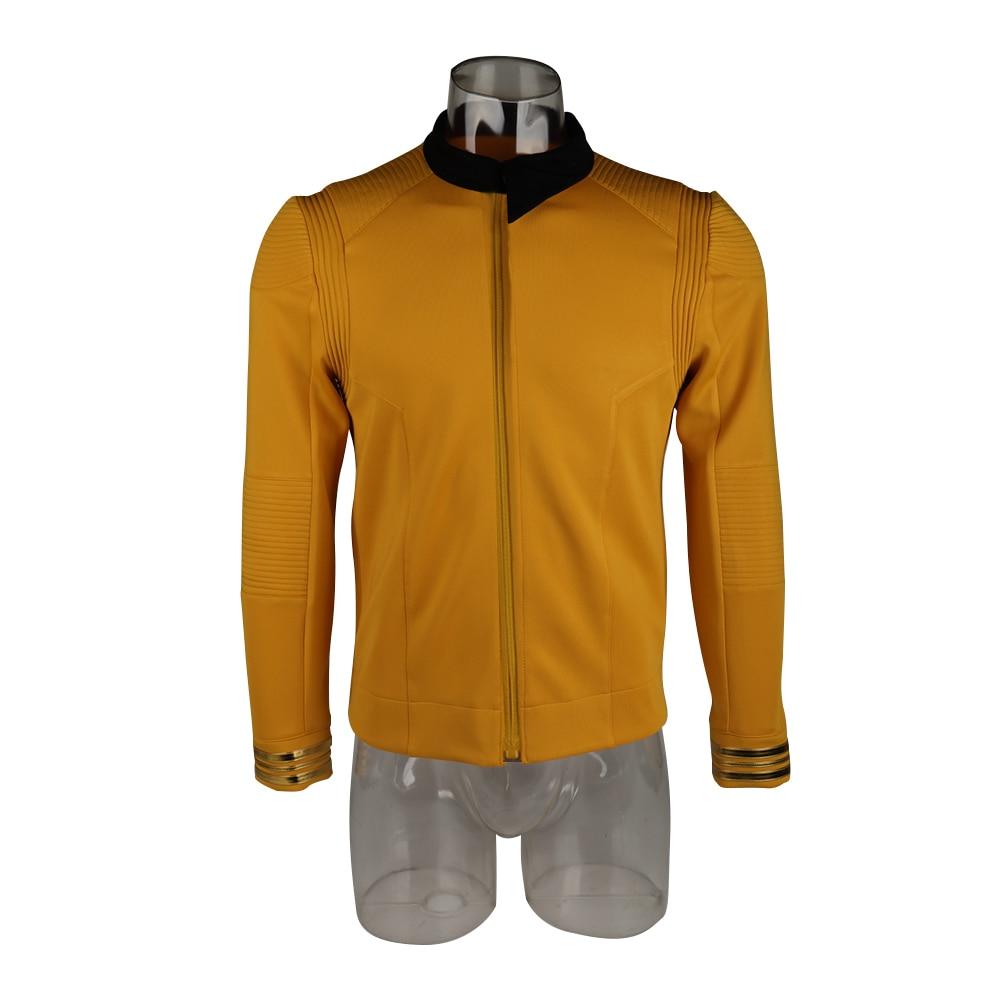New 11 Star Trek Discovery Season 2 Starfleet Captain Kirk Shirt Uniform Badge Costumes Men Adult Halloween Cosplay Costume (3)