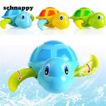 Cute Cartoon Animal Tortoise classic water toys Baby Bath Toy Infant Swim Turtle Chain Clockwork Kid Educational beach bath toys