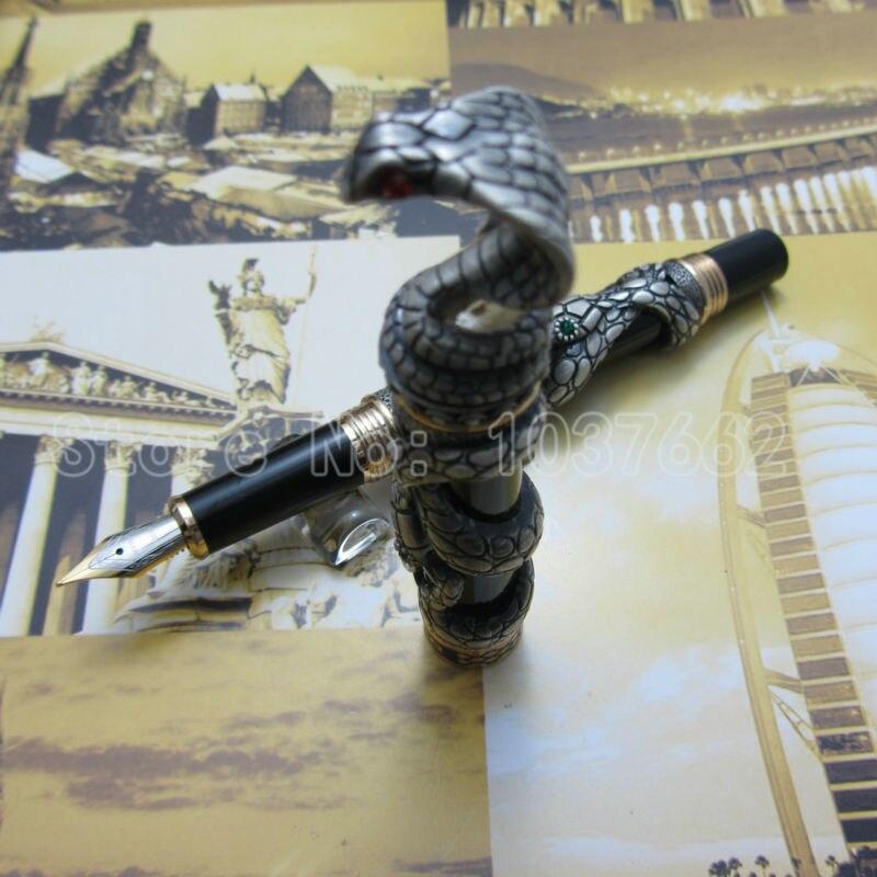 jinhao pen gray upscale beautiful snake fountain pen nib 18KGP M Nib<br>