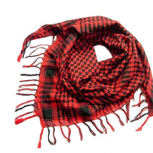 Hot Women Men's Winter Warm Kerchief Scarf Unisex Plaid Tassels Wrap Shawl Arab Shemagh Keffiyeh Palestine Scarf Bufanda  Y8043