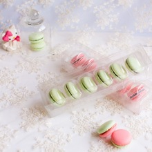Promotion Free shipping 12pcs/lot 6 cups pvc macaron box clear gift packaging box wedding decoration box