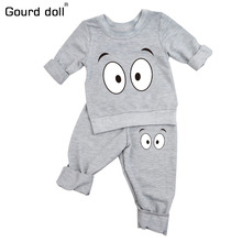 Infant Baby Clothing Sets Boy Long Sleeve T-shirt+Pant Kids Spring Autumn Outfits Set Toddler Monster Suits Baby Girls Clothes(China)